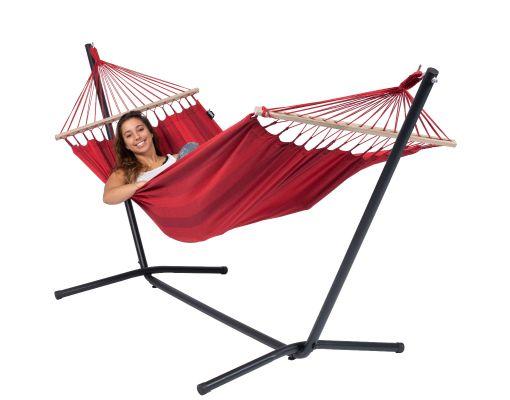 Cama de Rede com Suporte 1 Pessoa 'Easy & Relax' Red